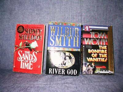 3 Book Lot - Fiction (Sidney Sheldon, Wilbur Smith, Tom Wolfe) MMPB