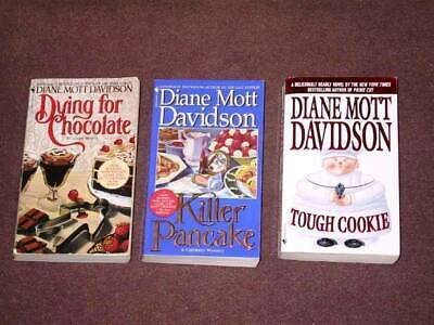 Diane Mott Davidson Book Lot – 3 Pocket Books (USED) Dying for Chocolate, etc.