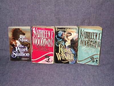 4 Book Lot - Historical Romance (Rae Muir, Kathleen E. Woodiwiss) USED MMPB