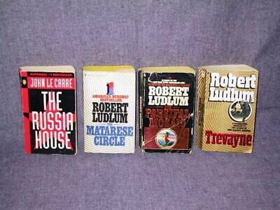 4 Book Lot - Thriller (John le Carre, Robert Ludlum, etc.) USED MMPB