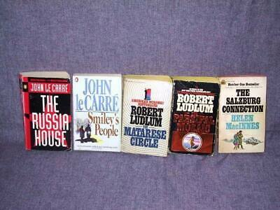 5 Book Lot - Thriller (John le Carre, Robert Ludlum, Helen MacInnes) USED MMPB