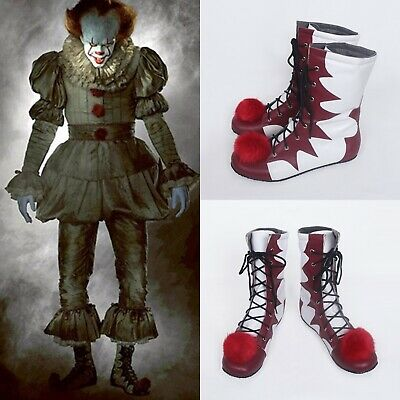 Stephen King's It Pennywise Shoe Fancy Dress Up Halloween Costume Cosplay Boot #