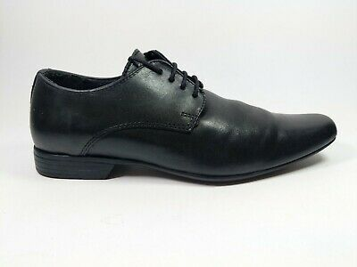 River Island Boys Black Smart Leather Formal Occasion Or School Shoes Uk 2