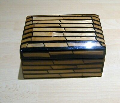 Resin Trinket Box with Bamboo Canes Design