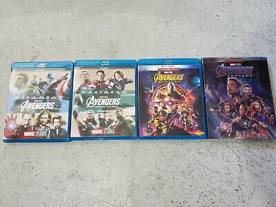 Avengers 4 Movie Blu-Ray Bundle: Avengers, Age of Ultron, Infinity War, End Game