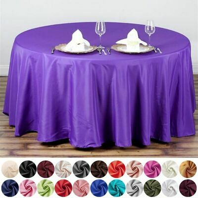 """6 pcs 108"""" Round Polyester Tablecloth Tabletop Wedding Wholesale Decorations"""