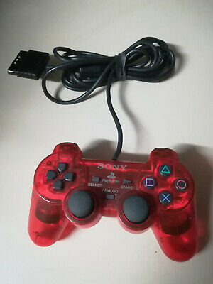 Dual Shock 2 ROSSO Controller Joypad Joystick Sony PS1 PS One PS2 PSX ORIGINALE