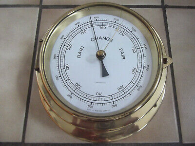 Dekoratives Altes Schiffs-Barometer, Made In West Germany  #7882