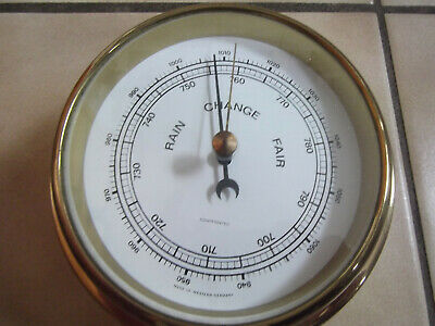 Dekoratives Altes Schiffs-Barometer, Made In West Germany  #7883