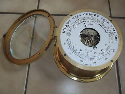 Dekoratives Altes Schiffs-Barometer, Schatz, Made In West Germany  #7890
