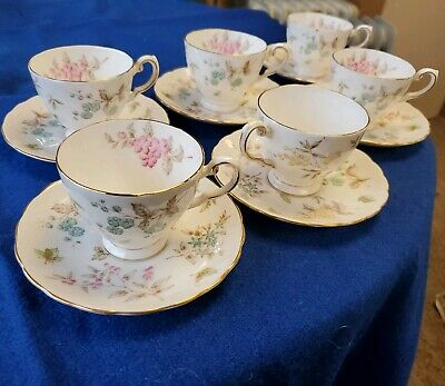 Tuscan Fine English Bone China Pink Tea Cup & Saucer Gold Trim Butterfly England