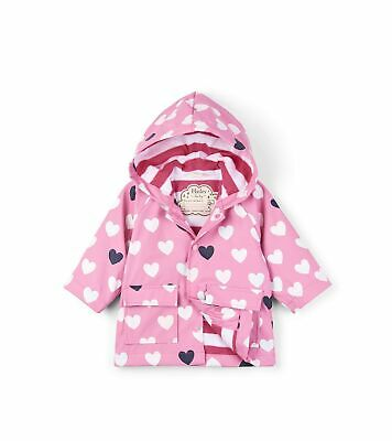 Hatley Baby Girls' Printed Raincoats Pink (Colour Changing Lovely Hearts )