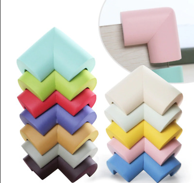 Pack of 4 Foam Baby Safety Table Corner Protection Edge Corner Guards Free Tapes