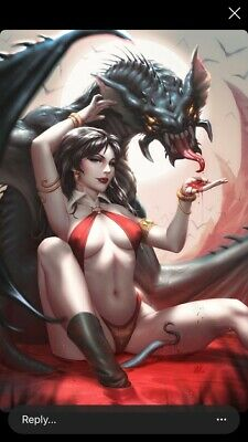 Vengeance of Vampirella 1 Kendrick Lim Virgin Variant Limited to 300 - SOLD OUT