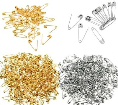 50/100/500x SAFETY PINS Silver Gold Badges Craft Dressmaking Sewing