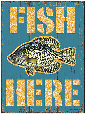 Little Fish Stories Told Here Novelty SignFunny Home Décor Garage Gag Gift