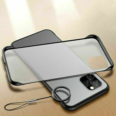 For iPhone 11 Pro Max 2019 Clear Case Ultra Slim Matte Shockproof Strap Cover