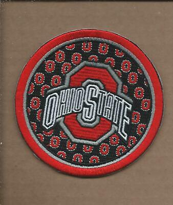 New 3 1/2 Inch Ohio State Buckeyes Iron On Patch Free Shipping