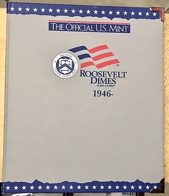 Complete 1946-1964 Roosevelt Silver Dime Set In US Mint Album - Mostly Circ