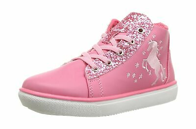 Hatley Girls' High Top Sneakers Hi Trainers, Pink (Sparkle Horse 650), 1 (33 ...