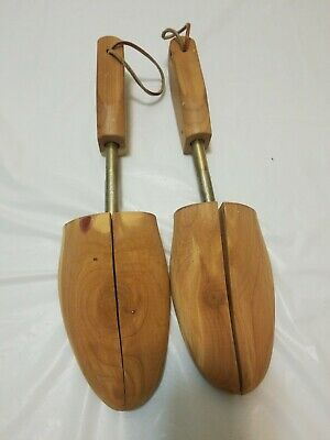 Vintage Wooden Shoe Keepers by Rochester NY Shoe Tree Co. Large USA Red Cedar