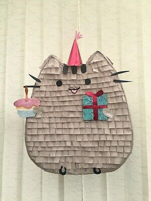 Pusheen Cat Piñata Girls Party Games Birthday Smash Decoration