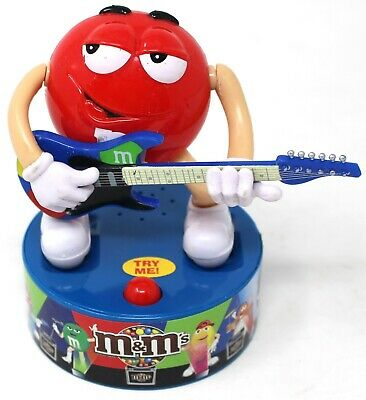 M&M'S ROCK STARS Red Character Guitar Player Moves and Play Music