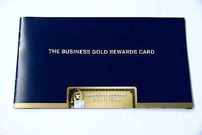 American Express Business Gold Rewards Card Brochure Booklet Advertisement