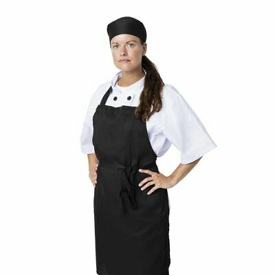 Nisbets Essentials Chef Bib Aprons in Black - Polycotton - Pack of 2