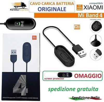 ⭐XIAOMI Mi Band 4 CAVO CARICA BATTERIE BATTERY CHARGE ORIGINALE SCREEN PROTECTOR