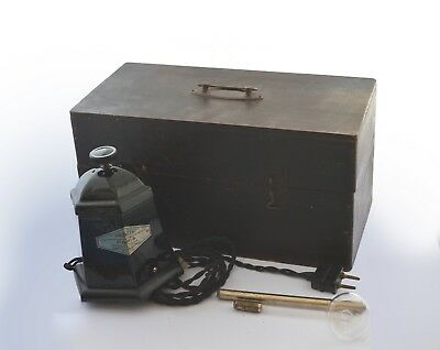 Antique medical PROVITA germany violet ray medical device with wooden box -