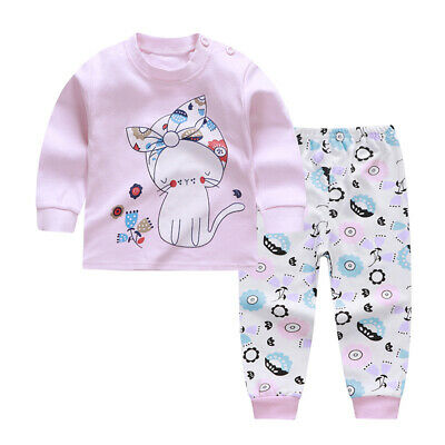 2PCS BABY SHARK Kids Baby Boys Girls Outfits Clothes Long Sleeve Tops+Pants