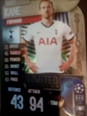 Match Attax 2019/20 Harry Kane Silver Limited Edition Le6S Mint