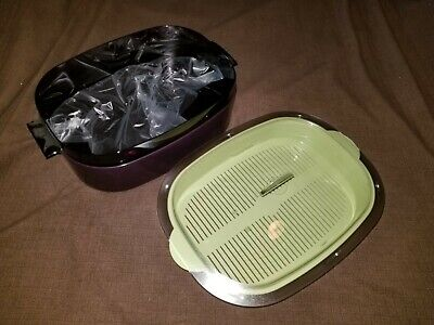new tupperware oval microwave stack cooker micro steamer brand new