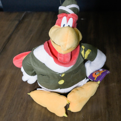 """Looney Tunes Foghorn Leghorn 11"""" Rooster Plush Toy Military"""
