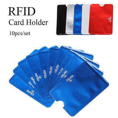 10pcs RFID Credit Card Protector Anti Theft Blocking Card Holder Case Cover New