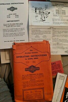 Briggs & Stratton - Operating & Maintenance Instructions - Gasoline Engines