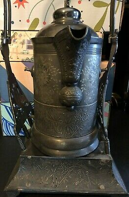Antique Pairpoint Manufacturing Co. Quadruple Silver Plated Tilting Urn Samovar