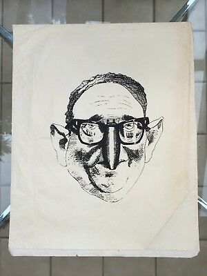 Vietnam Era Caricature of Henry Kissinger by David Levine, 1972
