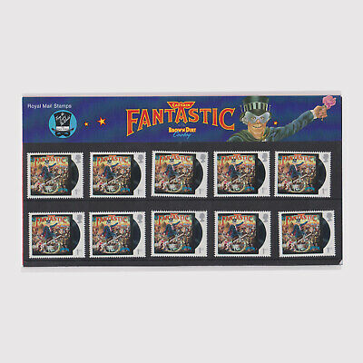 2019 Music Giants - Elton John Pack of 10 Captain Fantastic Stamps