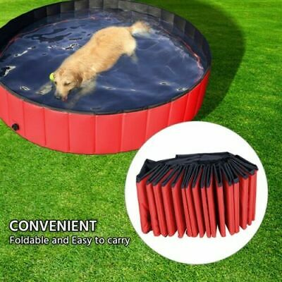 """Outdoor 510885 Foldable Pet Dog Swimming Pool, Red, 63"""""""