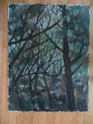 Oil Painting of Forest by Listed Artist Peter Holbrook California Artist