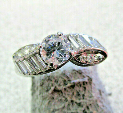 Highest Quality Art Deco Platinum Diamond Ring 1.00 ctw VS1-G size 7  MAKE OFFER