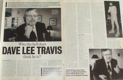 Dave Lee Travis FULL PAGED magazine CELEBRITY CLIPPINGS photos article