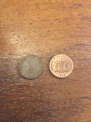 1 Dollar 6 Coin Set BU SKU #37647 1978-2004 Trinidad /& Tobago 1 Cent