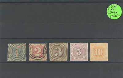 Germany States Thurn And Taxis Stamps H, Used Sc#-10-14 Cv-$240.50 Lot-88