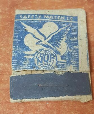 Judaica Palestine Old Vintage Matchbook Nur Acre with Bird