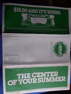 Saratoga Performing Arts Center 1977 Summer Schedule- Ronstadt,Beachboys,Taylor