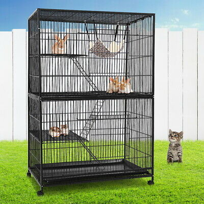 iPet Large Bird Ferret Parrot Cage Aviary Cat Budgie Hamster Level Ladder Wheel