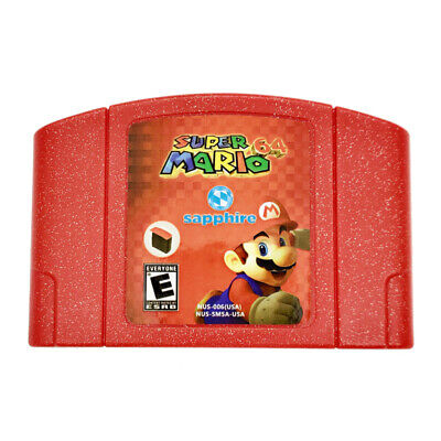 Super Mario 64 Sapphire Video Game For Nintendo N64 Fan Made Hack US Seller